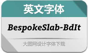 BespokeSlab-BoldItalic(英文字体)