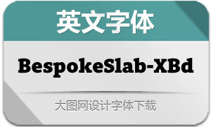 BespokeSlab-ExtraBold(英文字体)