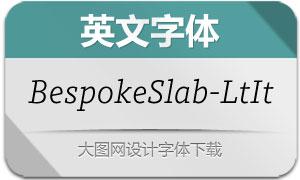 BespokeSlab-LightItalic(英文字体)