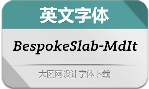 BespokeSlab-MediumIt(英文字体)