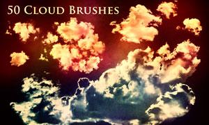 50款高清晰云彩和云朵PS笔刷