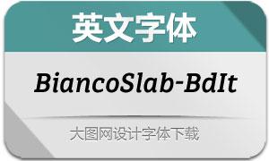 BiancoSlab-BoldItalic(英文字体)