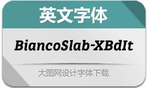 BiancoSlab-ExtraBoldIt(英文字体)