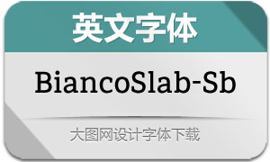 BiancoSlab-SemiBold(英文字体)