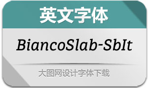 BiancoSlab-SemiBoldIt(英文字体)