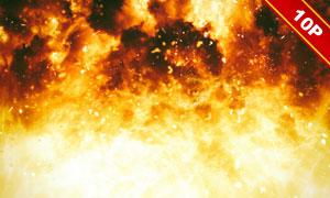 熊熊燃烧着的大火主题背景高清图片