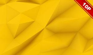 黄色低多边形抽象背景创意高清图片
