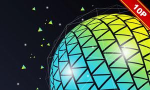光效装饰缤纷球体创意背景高清图片