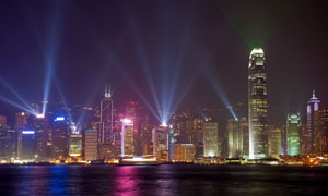 灯火辉煌城市夜景风光摄影高清图片