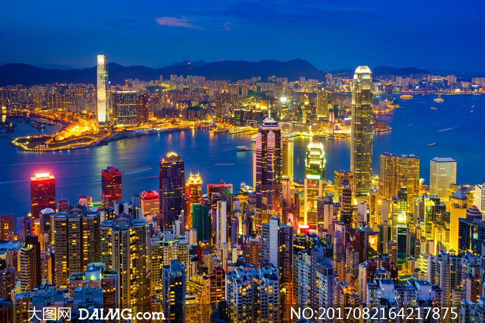金碧辉煌城市建筑风光摄影高清图片