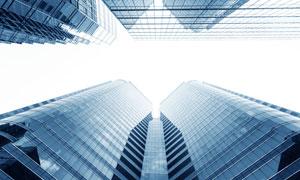城市摩天大楼仰拍效果摄影高清图片