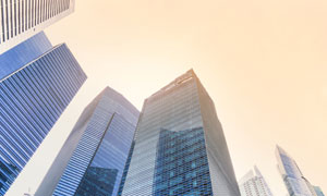 城市商务摩天大楼仰拍摄影高清图片