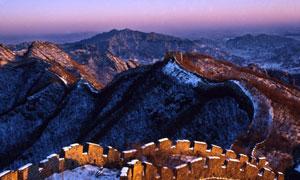 雪后群山长城自然风光摄影高清图片