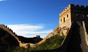 蓝天白云长城景观风光摄影高清图片