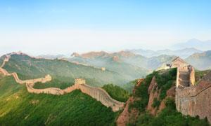 蜿蜒于群山的长城风光摄影高清图片