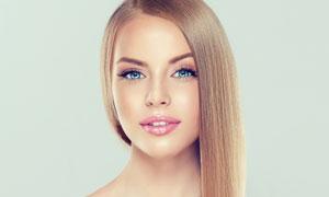 柔顺直发美女模特人物摄影高清图片