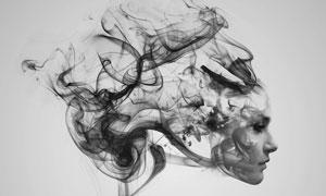 创意的烟雾特效人像PSD源文件