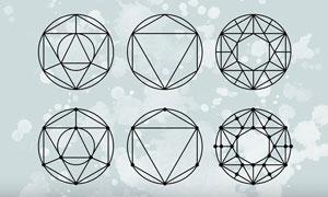 12款创意的几何图形PS形状