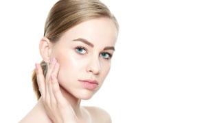 弹润肌肤护理美女人物摄影高清图片
