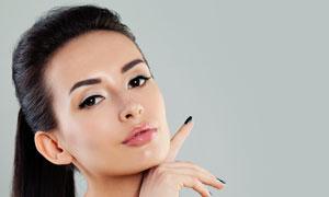 黑发妆容美女模特人物摄影高清图片