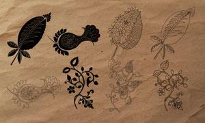 创意的花藤和叶子装饰PS笔刷