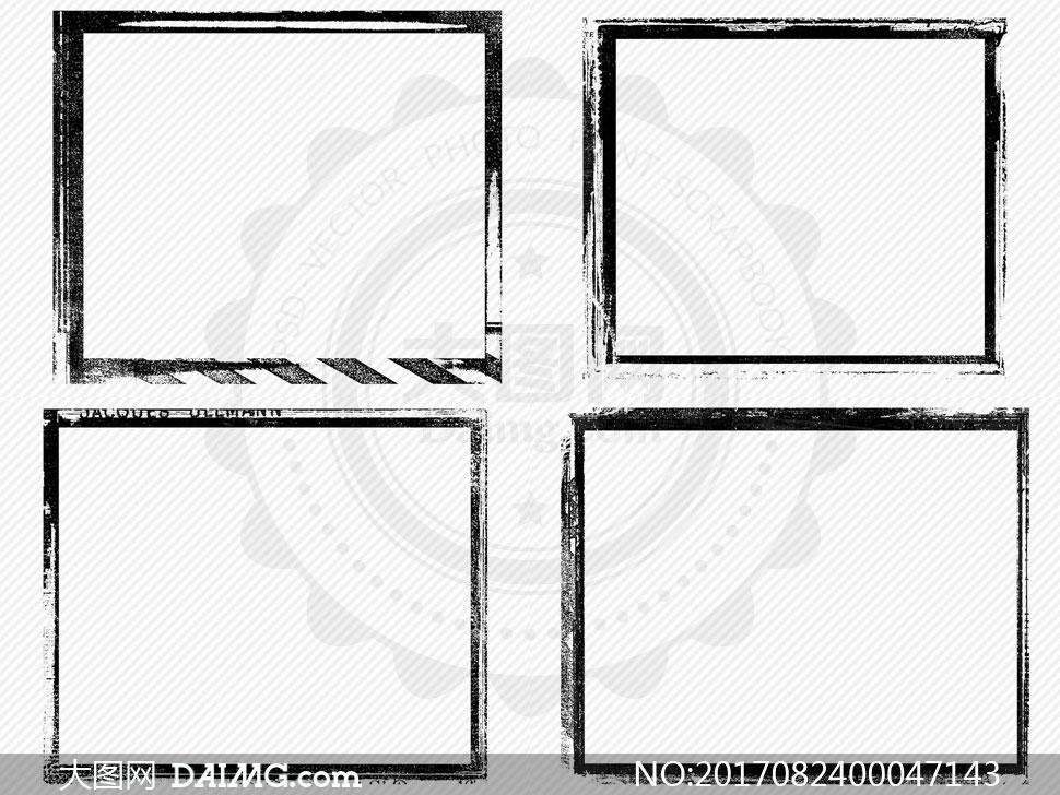 高清晰颓废边框ps笔刷 - 大图网设计素材下载