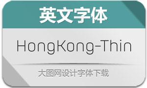 HongKong-Thin(英文字体)