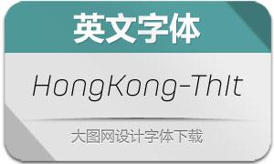 HongKong-ThinItalic(英文字体)