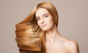 柔顺披肩秀发美女人物摄影高清图片
