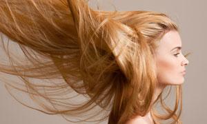 乱蓬蓬的披肩长发美女摄影高清图片