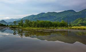 美丽的大九湖景观摄影图片