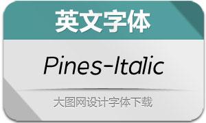 Pines-Italic(英文字体)