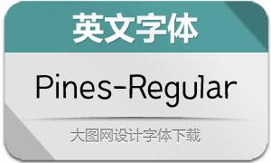 Pines-Regular(英文字体)