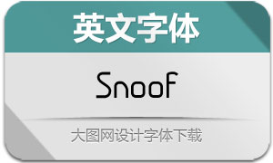 Snoof(英文字体)