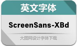 ScreenSans-ExtraBold(英文字体)