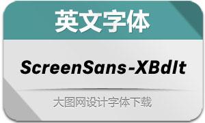 ScreenSans-ExtraBoldIt(英文字体)