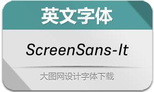ScreenSans-Italic(英文字体)