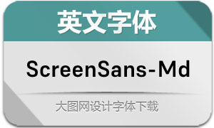 ScreenSans-Medium(英文字体)