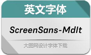 ScreenSans-MediumIt(英文字体)