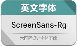 ScreenSans-Regular(英文字体)