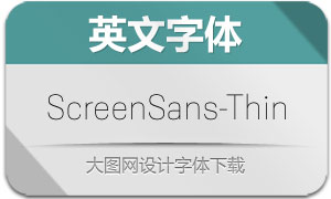 ScreenSans-Thin(英文字体)