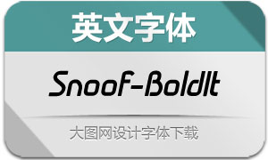 Snoof-BoldItalic(英文字体)