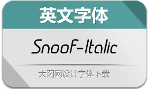 Snoof-Italic(英文字体)