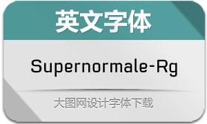 Supernormale-Regular(英文字体)