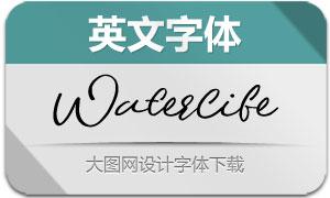 Waterlife(英文字体)