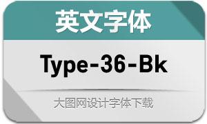 Type-36-Black(英文字体)