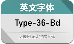 Type-36-Bold(英文字体)