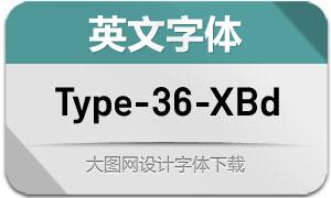 Type-36-ExtraBold(英文字体)