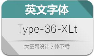Type-36-ExtraLight(英文字体)