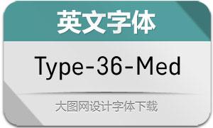 Type-36-Medium(英文字体)